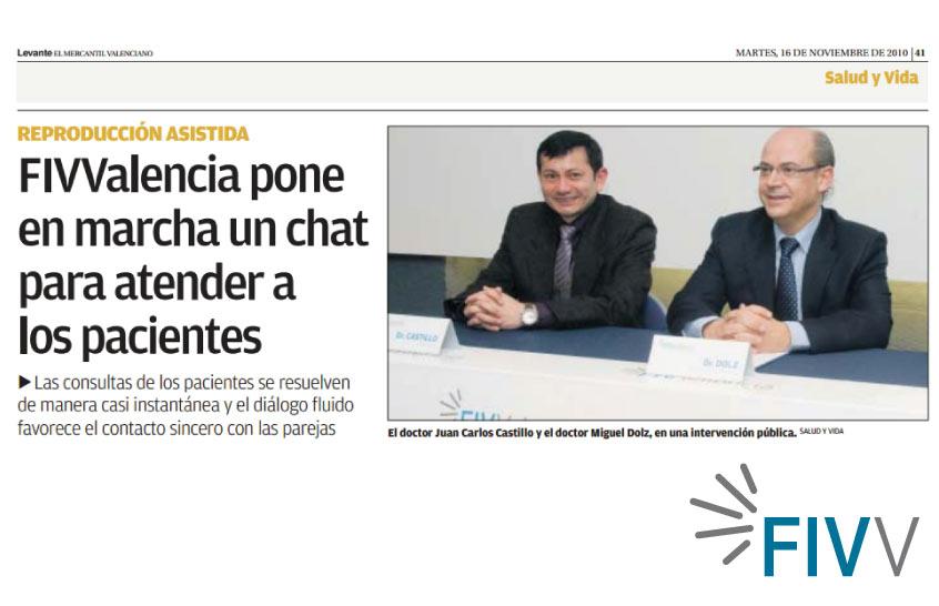 FIV-Valencia pone en marcha un chat para atender a los pacientes
