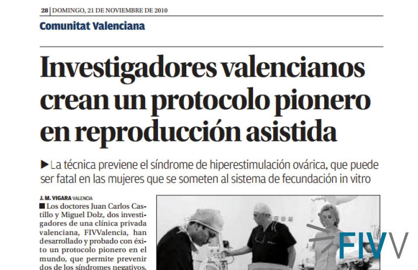El equipo de investigación de FIV-Valencia crea un protocolo pionero en reproducción asistida